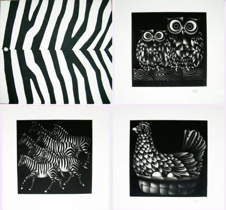 Mezzotinto Avati - NOAH'S ARK. Ten Mezzotints. (1971)
