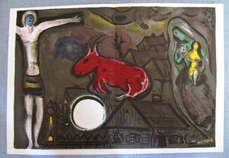 Lithographie Chagall - Nochebuena