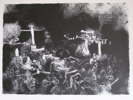 Lithographie Matta - Non vedi tu la morte che l combatte