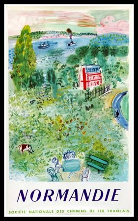 Lithographie Dufy - NORMANDIE