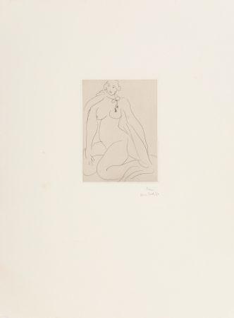 Stich Matisse - Nu Accroupi, Une Cordeliere Nouee Autour du Cou