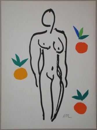 Lithographie Matisse - Nu aux oranges
