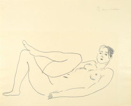 Lithographie Matisse - Nu couché, jambe repliée - Étude de jambes