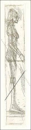 Radierung Giacometti - Nu De Profil.