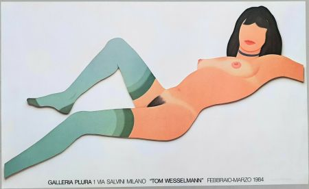 Lithographie Wesselmann - Nude