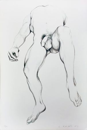 Lithographie Nesbitt - Nude Male 6