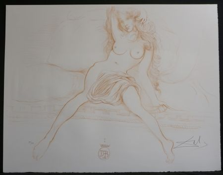 Lithographie Dali - Nudes Young Woman Arising