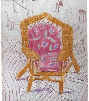 Siebdruck Hockney - Number one chair