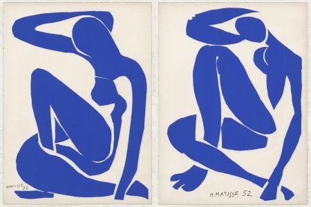 Lithographie Matisse - Nus Bleus III et IV (1958)