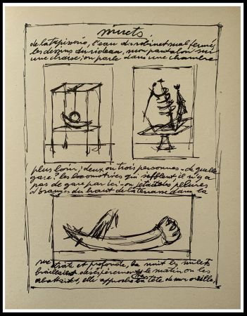Lithographie Giacometti - OBJETS MOBILES ET MUETS II