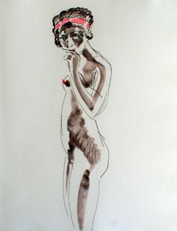 Radierung Van Dongen - Odalisque Africaine standing