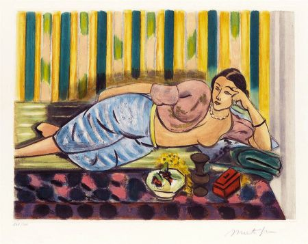 Aquatinta Matisse - Odalisque au Coffret Rouge (Odalisque with Red Box)