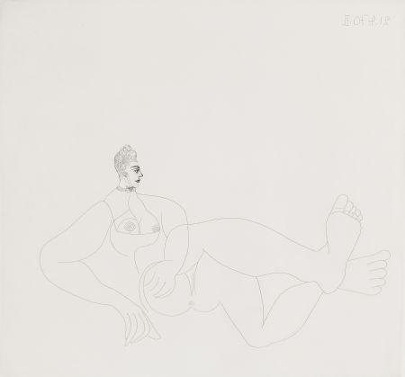 Radierung Picasso - Odalisque au collier de chien
