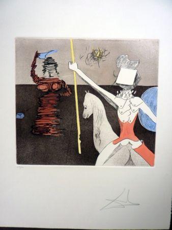 Radierung Und Aquatinta Dali - Off To Battle (Don Quixote)