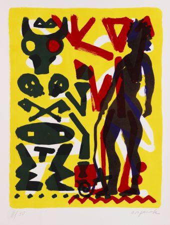 Lithographie Penck - Ohne Titel