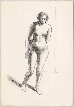 Lithographie Derain - Ohne Titel (Nu, le bras replié derrière le dos)