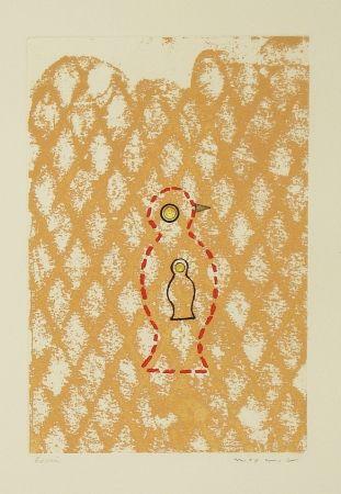 Radierung Und Aquatinta Ernst - Oiseau