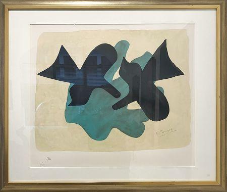 Lithographie Braque - Oiseaux
