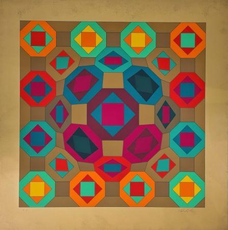 Siebdruck Vasarely - Okta-Or