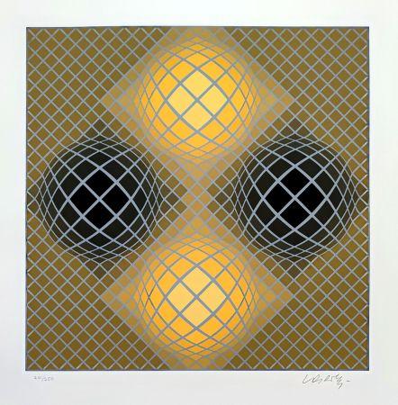 Siebdruck Vasarely - Olla