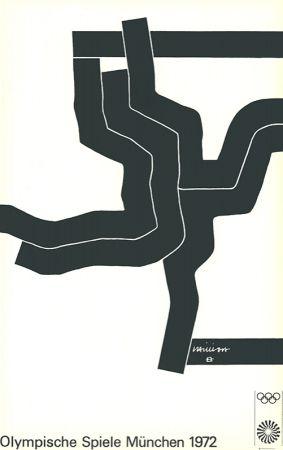 Lithographie Chillida - Olympische Spiele München 1972