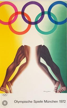Plakat Jones - Olympishe  Spiele  Munchen  1972