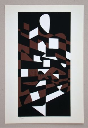 Siebdruck Vasarely - Onega II.
