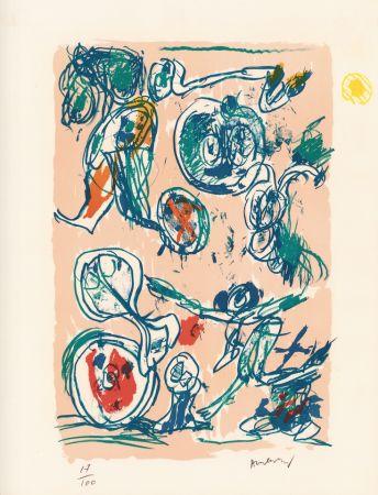 Lithographie Alechinsky - Ordre dispersé