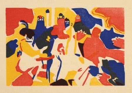 Holzschnitt Kandinsky - Orientalisches