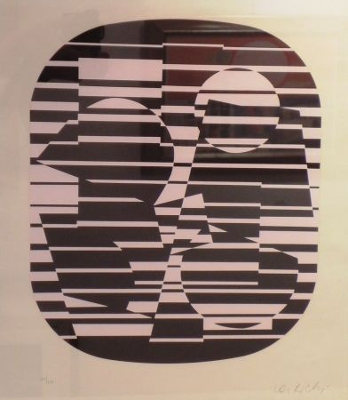 Siebdruck Vasarely - OROM