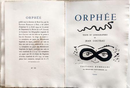 Illustriertes Buch Cocteau - ORPHÉE. avec 41 LITHOGRAPHIES ORIGINALES DE JEAN COCTEAU (1944)