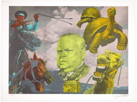 Lithographie Erro - Orson Welles