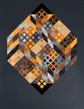 Siebdruck Vasarely - Orvar