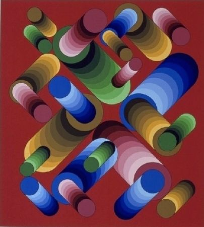 Lithographie Vasarely - Oslop