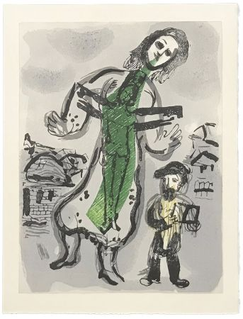 Holzschnitt Chagall - OU EST LE JOUR (
