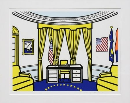 Siebdruck Lichtenstein - Oval Office