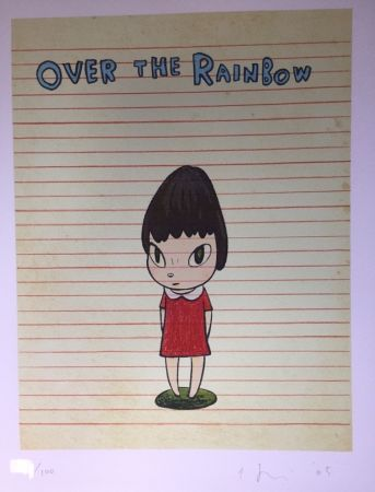 Lithographie Nara - Over the rainbow