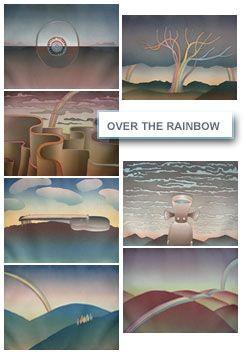 Radierung Und Aquatinta Folon - Over The Rainbow (complet suite)