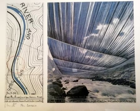 Plakat Christo - Over the river (Project for Arkansas River) Signed