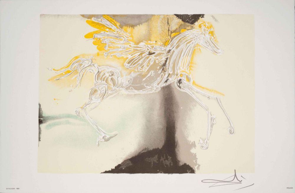 Lithographie Dali - Pégase