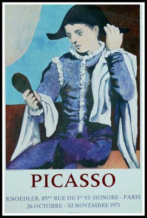 Plakat Picasso - PABLO PICASSO GALERIE KNOEDLER L'ARLEQUIN AU MIROIR