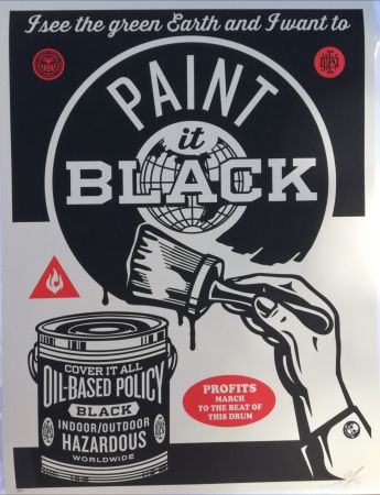 Siebdruck Fairey - Paint it black