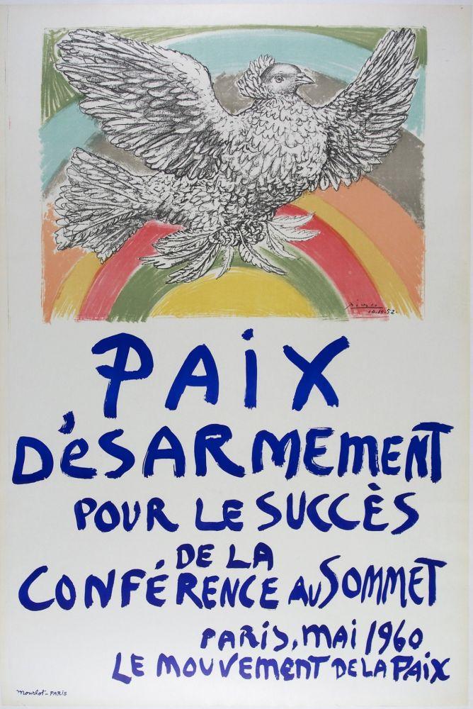 Lithographie Picasso - Paix D'esarmement