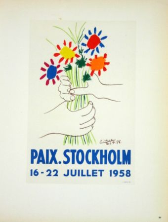 Lithographie Picasso (After) - Paix  Stockhlom