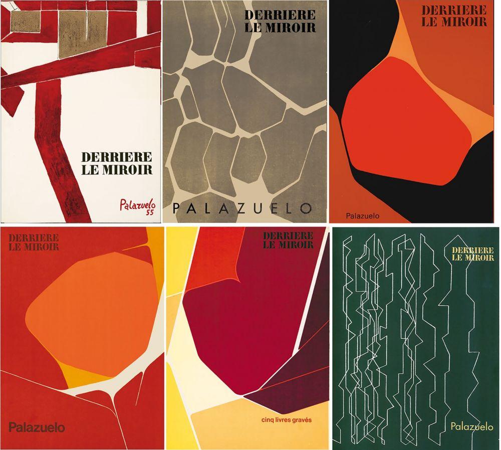 Illustriertes Buch Palazuelo - PALAZUELO. Collection complète des 6 volumes de la revue DERRIÈRE LE MIROIR consacrés à Palazuelo (parus de 1955 à 1978). 26 ESTAMPES ORIGINALES.