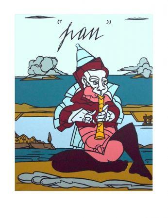 Lithographie Adami - Pan