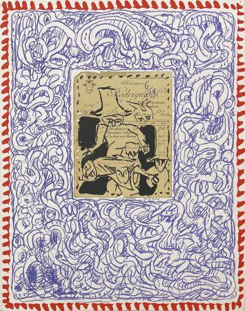 Lithographie Alechinsky - Papiers traités