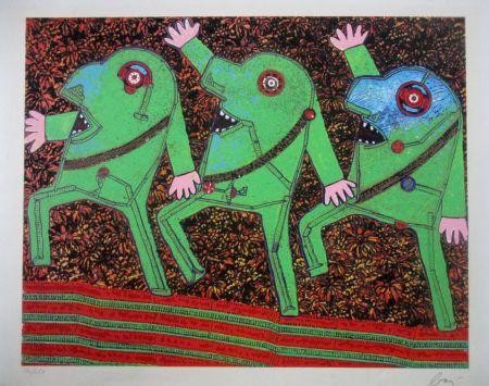 Siebdruck Baj - Parade from Baj Chez Baj