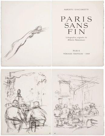 Illustriertes Buch Giacometti - PARIS SANS FIN. 150 lithographies originales (1969)