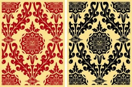 Siebdruck Fairey - Parlor Pattern Set (Cream and Red & Cream and Black)